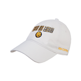 White Twill Unstructured Low Profile Hat-Angled Lets Go Lions