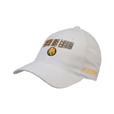 White OttoFlex Unstructured Low Profile Hat-Angled Lets Go Lions