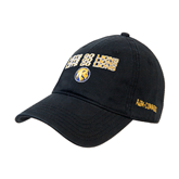 Black Twill Unstructured Low Profile Hat-Angled Lets Go Lions