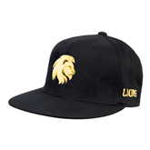 Black OttoFlex Flat Bill Pro Style Hat-Official Logo