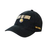 Black OttoFlex Unstructured Low Profile Hat-Angled Lets Go Lions