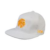 White OttoFlex Flat Bill Pro Style Hat-Official Logo