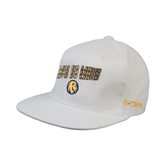 White OttoFlex Flat Bill Pro Style Hat-Angled Lets Go Lions