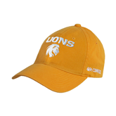 Gold Twill Unstructured Low Profile Hat-Stacked Lions with Head