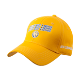 Gold Heavyweight Twill Pro Style Hat-Angled Lets Go Lions