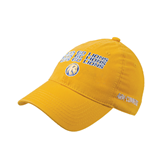 Gold Flexfit Mid Profile Hat-Angled Lets Go Lions