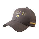 Charcoal Heavyweight Twill Pro Style Hat-Angled Lets Go Lions