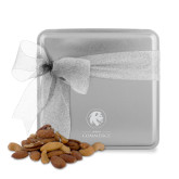 Deluxe Nut Medley Silver Medium Tin-Mascot AM Commerce Engraved