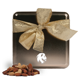 Deluxe Nut Medley Gold Medium Tin-Official Logo Engrave