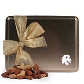 Deluxe Nut Medley Gold Large Tin-Official Logo Engrave