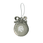 Silver Bulb Ornament-Official Logo Engrave