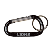 Black Carabiner with Split Ring-Lions Engrave