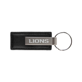 Leather Classic Black Key Holder-Lions Engrave