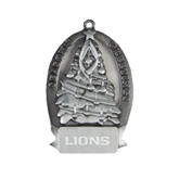 Pewter Tree Ornament-Lions Engrave