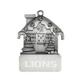 Pewter House Ornament-Lions Engrave