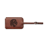 Fabrizio Brown Luggage Tag-Official Logo Engrave