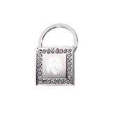Crystal Studded Square Key Holder-Official Logo Engrave