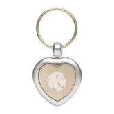 Silver/Gold Heart Key Holder-Official Logo Engrave