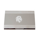 Dual Texture Silver Business Card Holder-Official Logo Engrave
