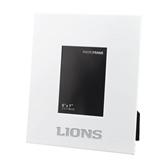 White Metal 5 x 7 Photo Frame-Lions Engrave