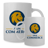 Full Color White Mug 15oz-Mascot AM Commerce
