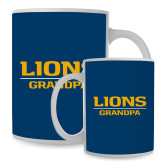 Full Color White Mug 15oz-Lions Grandpa