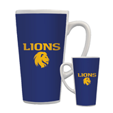 Full Color Latte Mug 17oz-Stacked Lions with Head