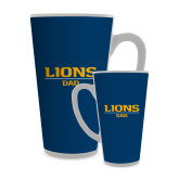 Full Color Latte Mug 17oz-Lions Dad