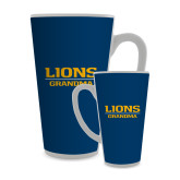 Full Color Latte Mug 17oz-Lions Grandma