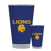 Full Color Glass 17oz-Stacked Lions with Head