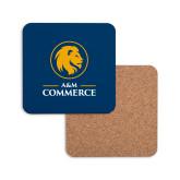 Hardboard Coaster w/Cork Backing-Mascot AM Commerce