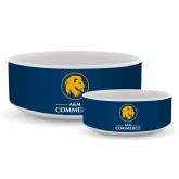 Ceramic Dog Bowl-Mascot AM Commerce