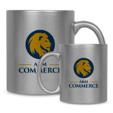 Full Color Silver Metallic Mug 11oz-Mascot AM Commerce