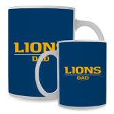 Dad Full Color White Mug 15oz-Lions Dad
