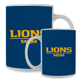 Mom Full Color White Mug 15oz-Lions Mom