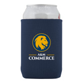 Collapsible Navy Can Holder-Mascot AM Commerce