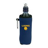 Collapsible Navy Bottle Holder-Stacked Lions with Head
