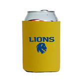 Collapsible Gold Can Holder-Stacked Lions with Head