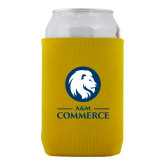 Neoprene Gold Can Holder-Mascot AM Commerce