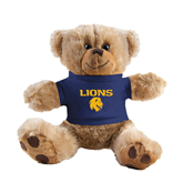 Plush Big Paw 8 1/2 inch Brown Bear w/Navy Shirt-Stacked Lions with Head