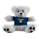 Plush Big Paw 8 1/2 inch White Bear w/Navy Shirt-Stacked Lions with Head