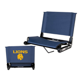 Stadium Chair Navy-Stacked Lions with Head