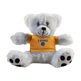 Plush Big Paw 8 1/2 inch White Bear w/Gold Shirt-Stacked Lions with Head