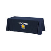 Navy 6 foot Table Throw-Stacked Lions with Head