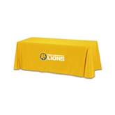 Gold 6 foot Table Throw-Flat A&M Commerce Lions