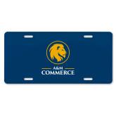 License Plate-Mascot AM Commerce