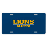 License Plate-Lions Alumni