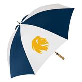 62 Inch Navy/White Umbrella-Official Logo