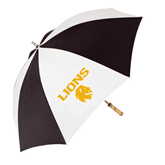 62 Inch Black/White Umbrella-Stacked Lions with Head