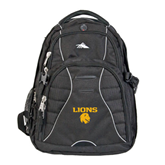 High Sierra Swerve Compu Backpack-Stacked Lions with Head